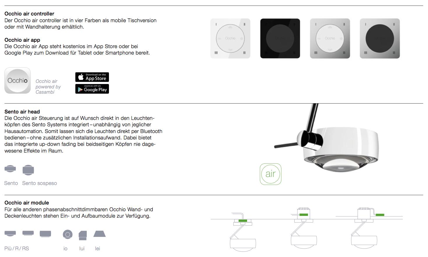 Produktbild Occhio air-System